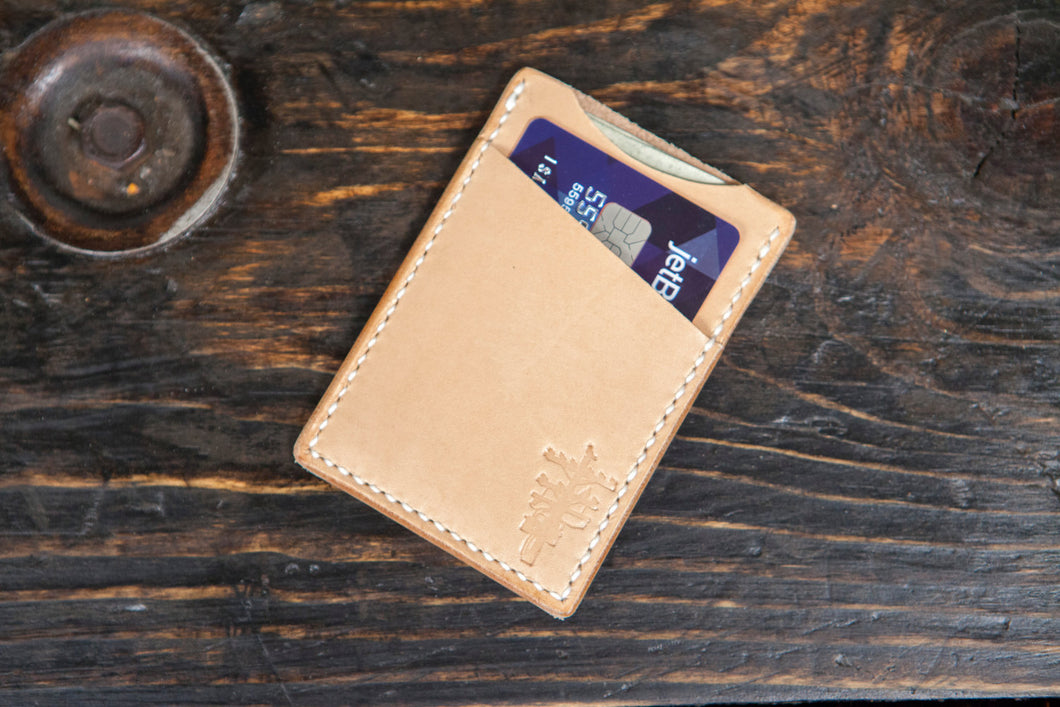 Minimalist Wallet Cardholder Wallet Front Pocket Wallet Simple Wallet Leather Wallet Hand Saddlestitched Vegtan Wallet Handmade Wallet