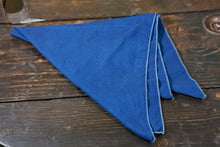 "Indigo Dyed Cotton Bandana 22"" x 22"" Pocket Bandana Dog Bandana Made in USA"