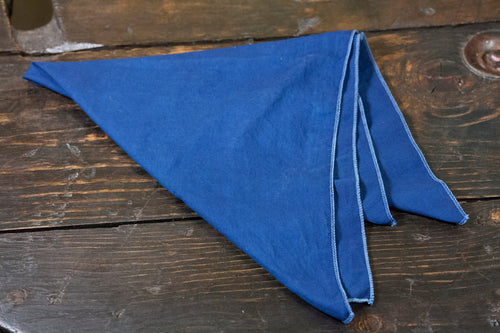 Indigo Dyed Cotton Bandana 22