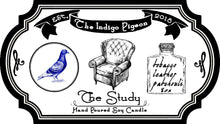 """The Study"" part 1 of 3 in 'The Indigo Pigeon' Candle Series"