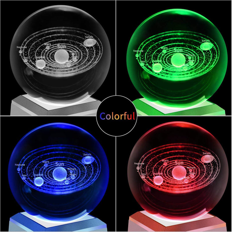 LED 3d Solar System Crystal Ball (LIMITED EDITION) | Gifts Ideas, Crystal Ball Decor, Lighting & More | StylishGram