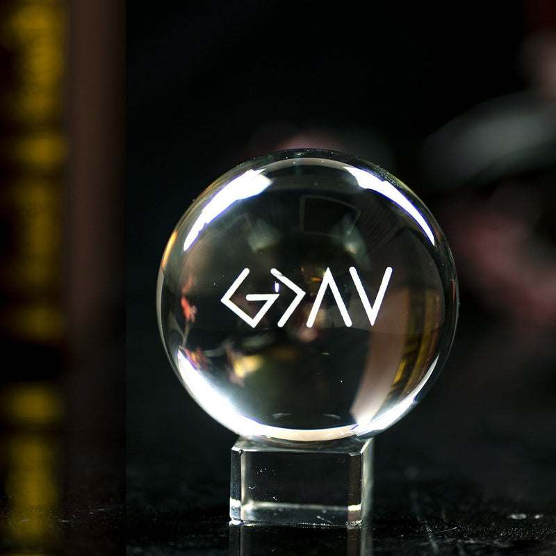"3D ""God is greater than the highs and lows"" Crystal Ball - Romans 8:28"
