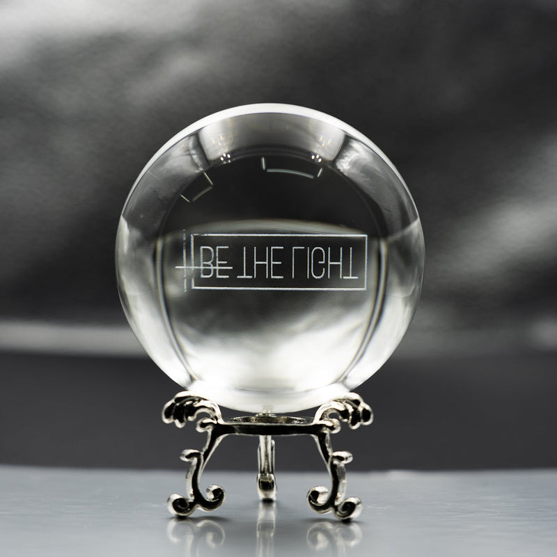 "3D ""Be The Light"" Crystal Ball - Matthew 5:15-16"