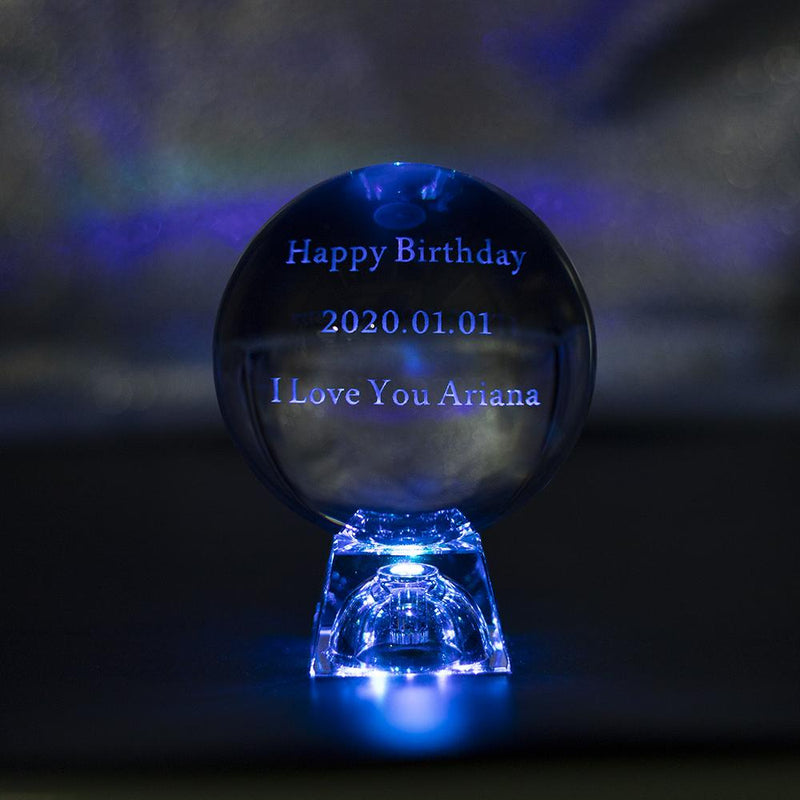 3D Custom Name Crystal Ball