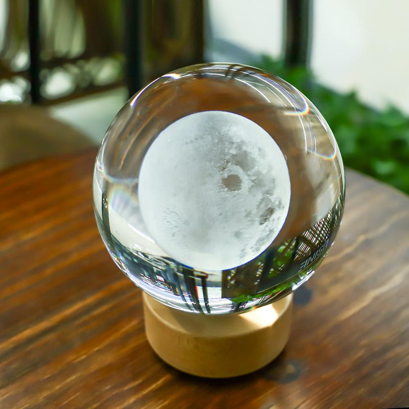 3D Moon Crystal Ball