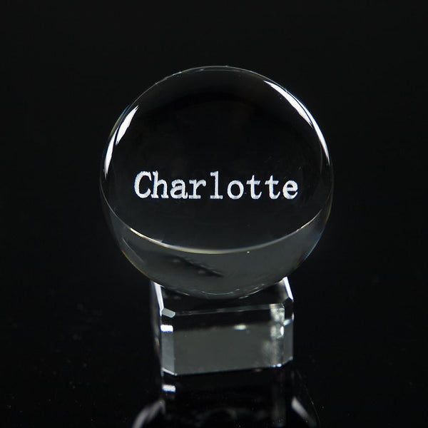 3D Custom Name Ball | Gifts Ideas, Crystal Ball Decor, Lighting & More | StylishGram