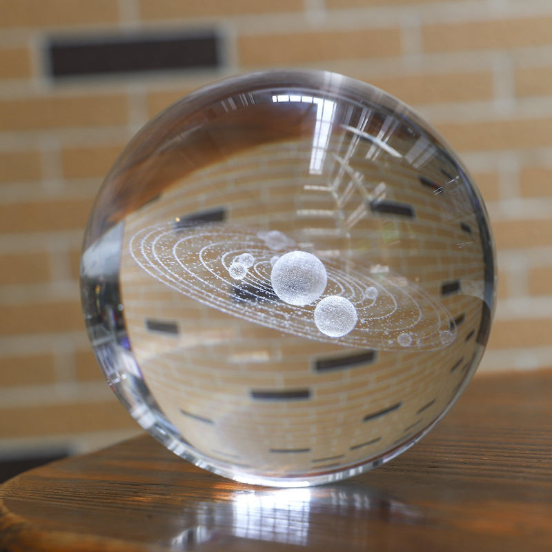 3D Solar System Crystal Ball - No Planet Labels | Gifts Ideas, Crystal Ball Decor, Lighting & More | StylishGram