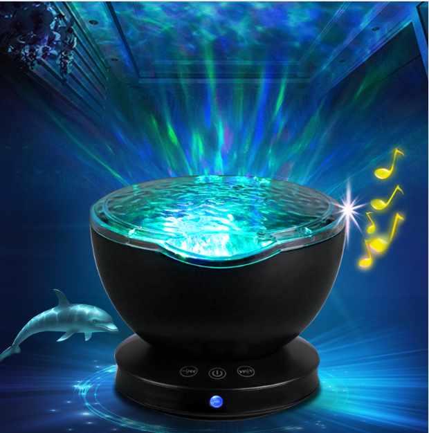 Ocean Wave Projector LED Night Light | Gifts Ideas, Crystal Ball Decor, Lighting & More | StylishGram