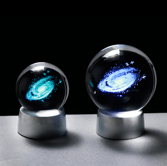 Colorful 3D Solar System & Galaxy Crystal Ball | Gifts Ideas, Crystal Ball Decor, Lighting & More | StylishGram