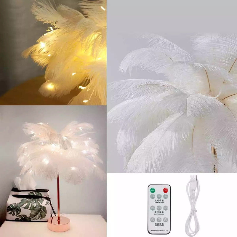 Maria's Feather Table Lamp