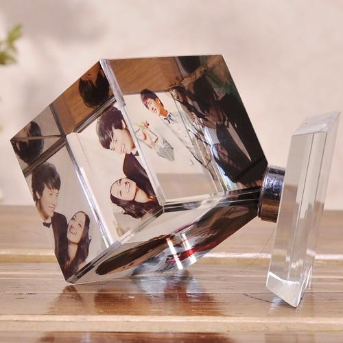 Personalized Rotating Square Picture Frame