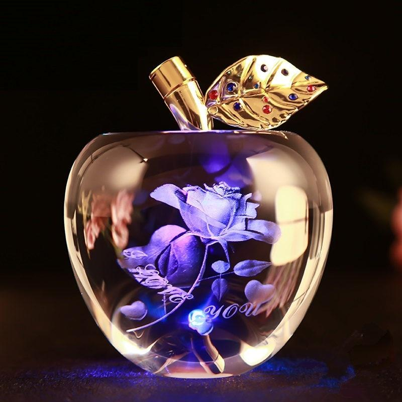 "3D Crystal ""I Love You"" Apple"