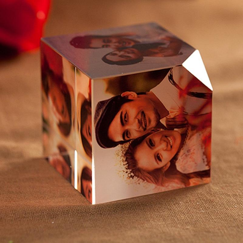 Personalized Crystal Cube Picture Frame DIY