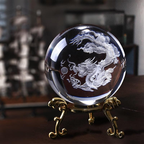 3D Dragon Crystal Ball | Gifts Ideas, Crystal Ball Decor, Lighting & More | StylishGram