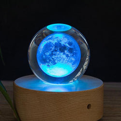 3D Moon Crystal Ball | Gifts Ideas, Crystal Ball Decor, Lighting & More | StylishGram