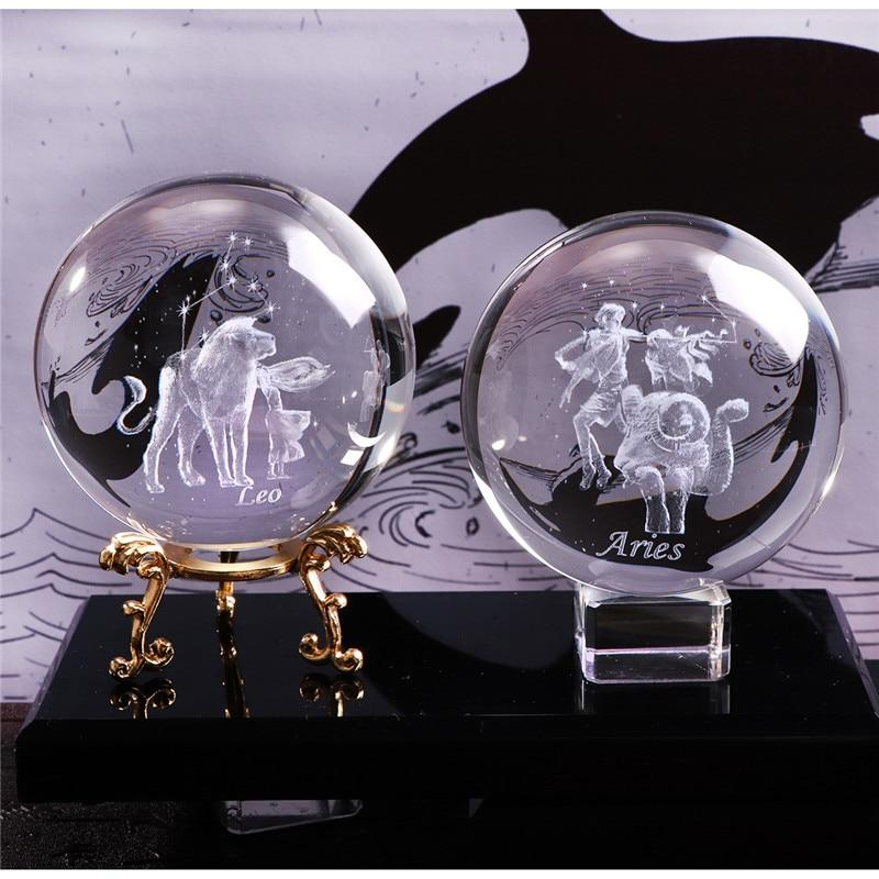 3D Zodiac Sign Crystal Balls (Biggest Size) | Gifts Ideas, Crystal Ball Decor, Lighting & More | StylishGram