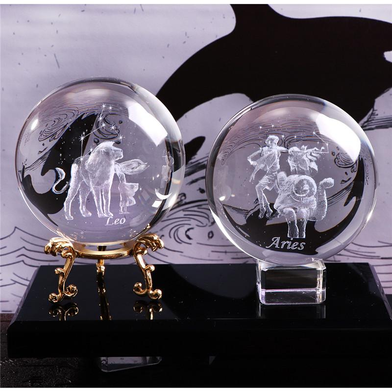 3D Zodiac Crystal Ball | Gifts Ideas, Crystal Ball Decor, Lighting & More | StylishGram