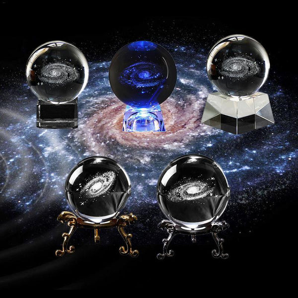 LED 3D Galaxy Crystal Ball | Gifts Ideas, Crystal Ball Decor, Lighting & More | StylishGram