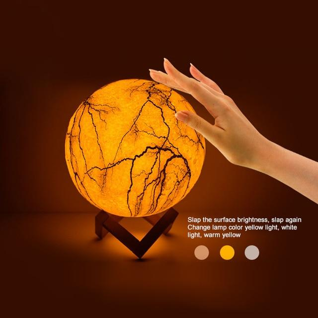 Cracked 3D Moon Lamp | Gifts Ideas, Crystal Ball Decor, Lighting & More | StylishGram