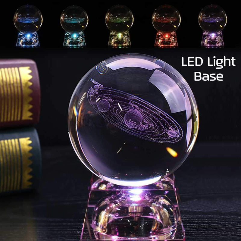 LED Crystal Base Solar System Ball | Gifts Ideas, Crystal Ball Decor, Lighting & More | StylishGram