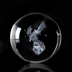 3D Slaying Dragon Crystal Ball (NEW) | Gifts Ideas, Crystal Ball Decor, Lighting & More | StylishGram