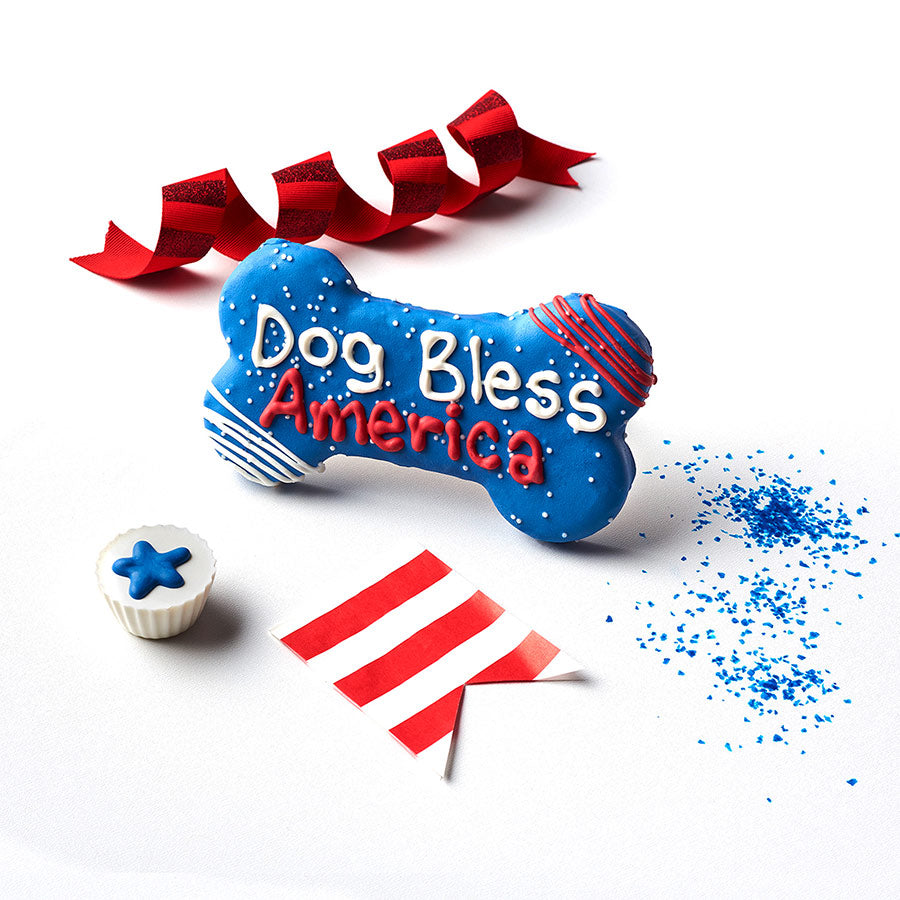 Dog Bless America + Paws & Kisses Cookie Bone