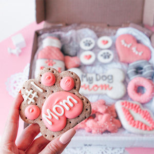 Pizza My Love + Dog Mom Cookie Box Bundle