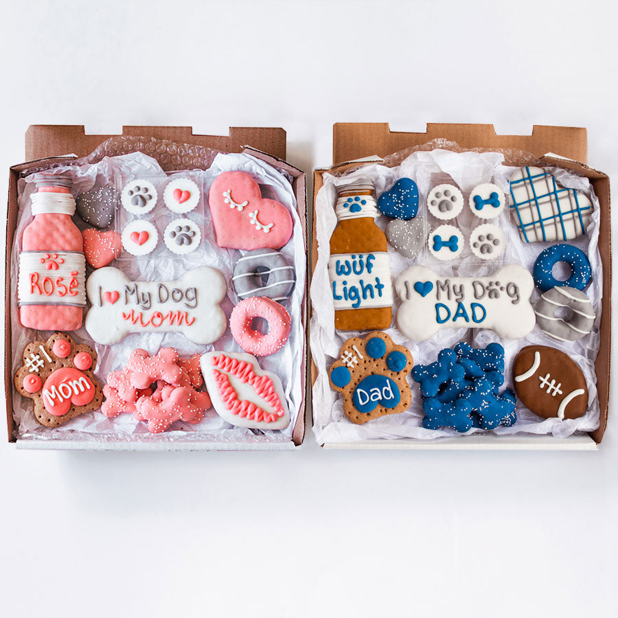 Dog Mom + Dog Dad Cookie Box Bundle