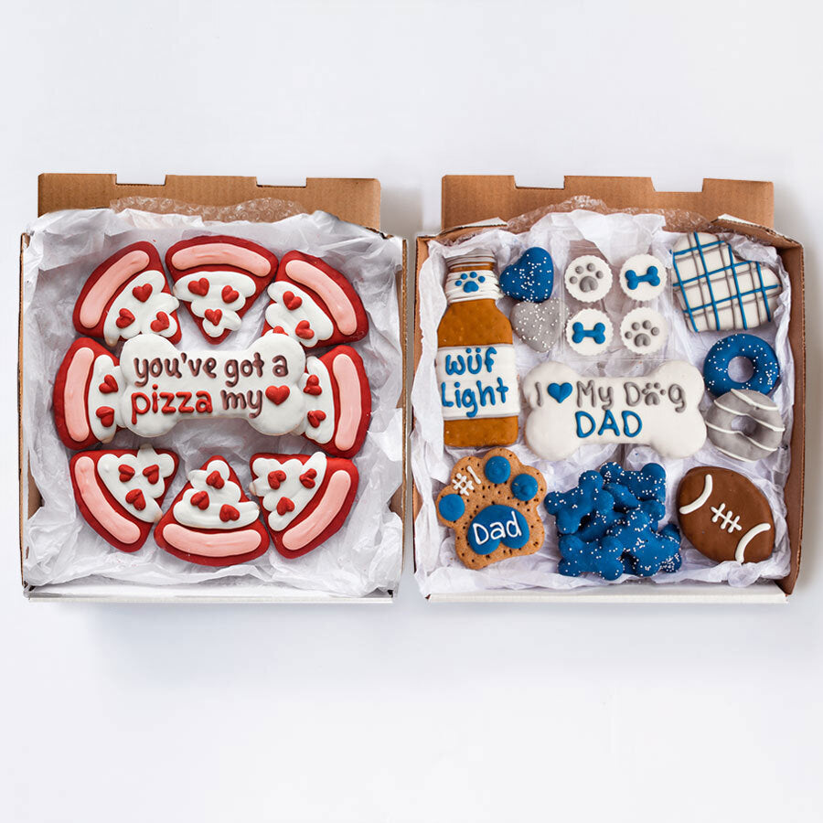 Pizza My Love + Dog Dad Cookie Box Bundle