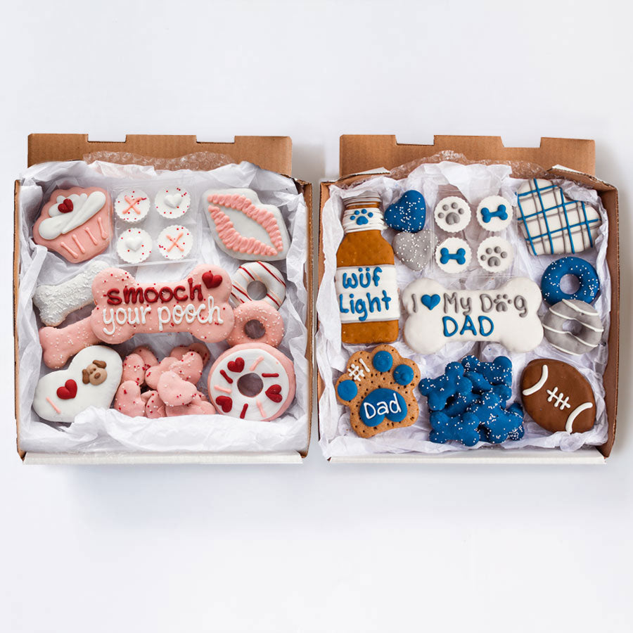 Smooch Your Pooch + Dog Dad Cookie Box Bundle