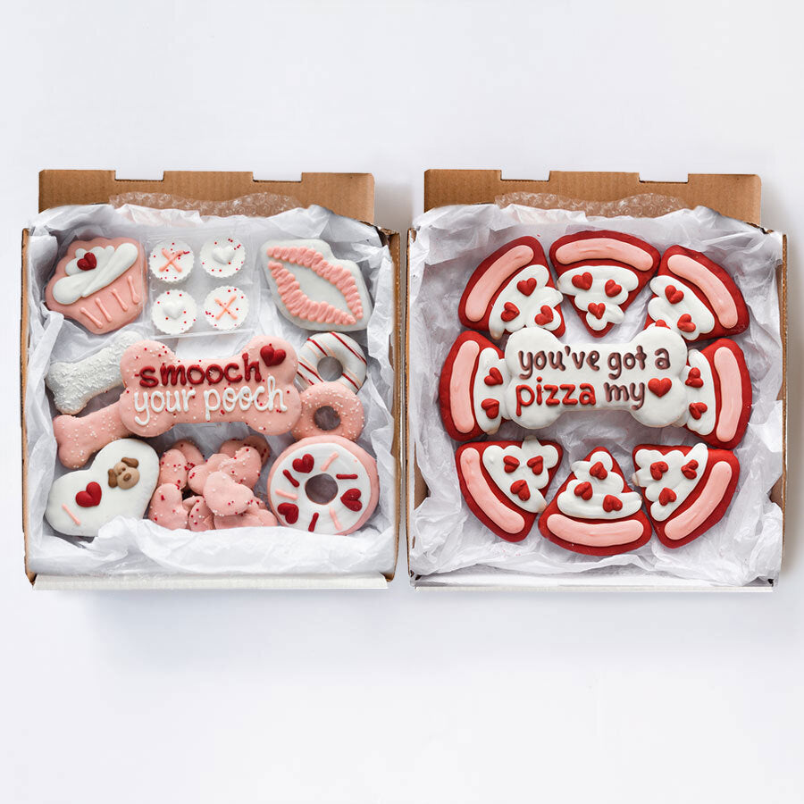 Valentine's Day + Pizza My Love Cookie Box Bundle