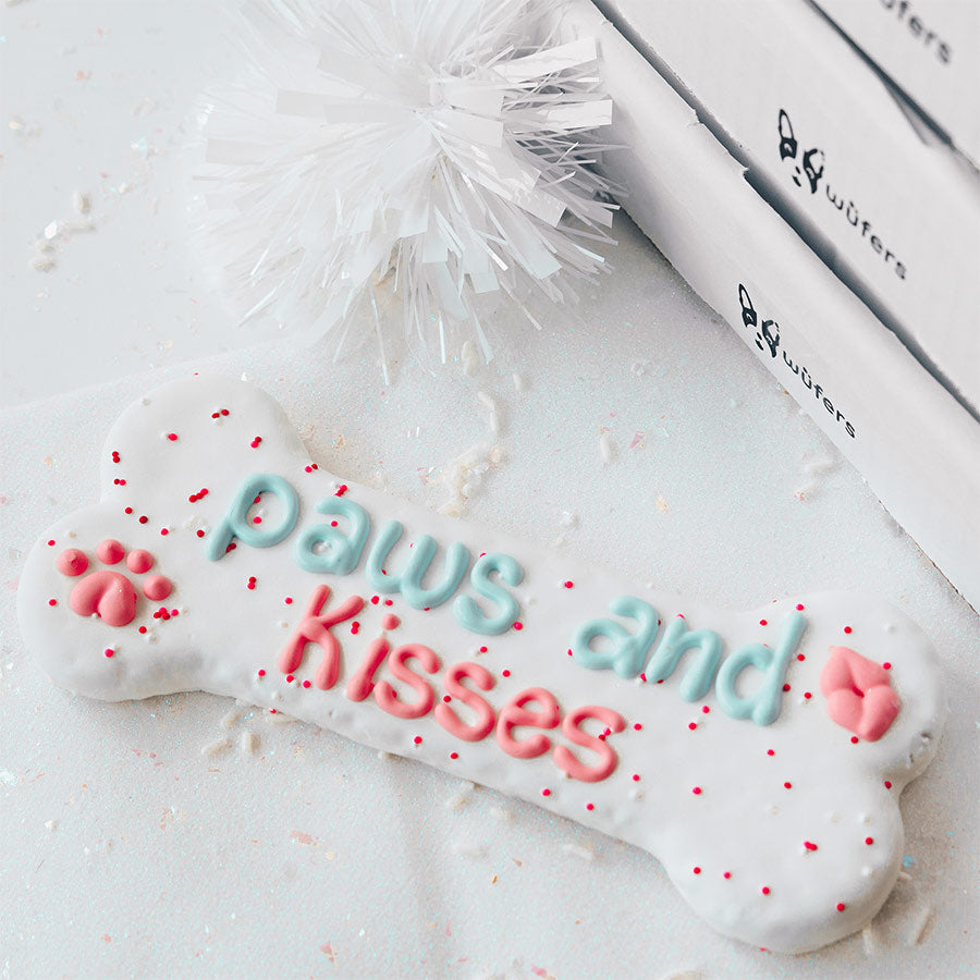 Paws and Kisses Bone Cookie