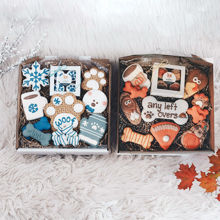 Winter Woof + Holiday Feast Cookie Box Bundle