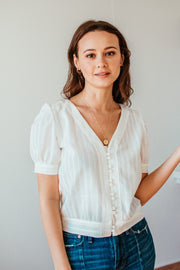 Lena Handwoven Top
