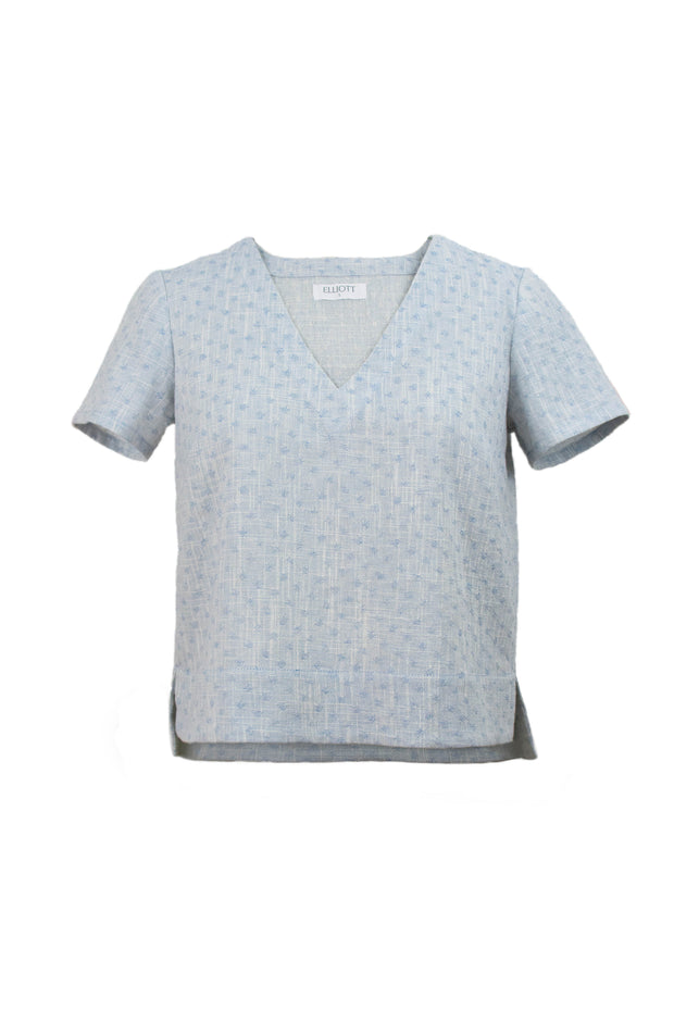 Lorena Top in Pale Blue