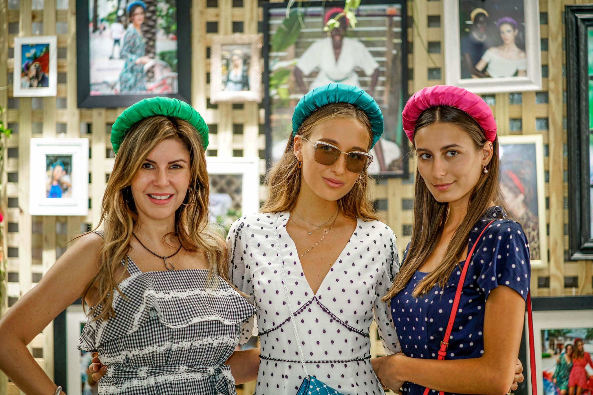 TANYA LITKOVSKA silk headbands & statement hair accessories launching party at Shore Club Hotel South Beach Miami Beach
