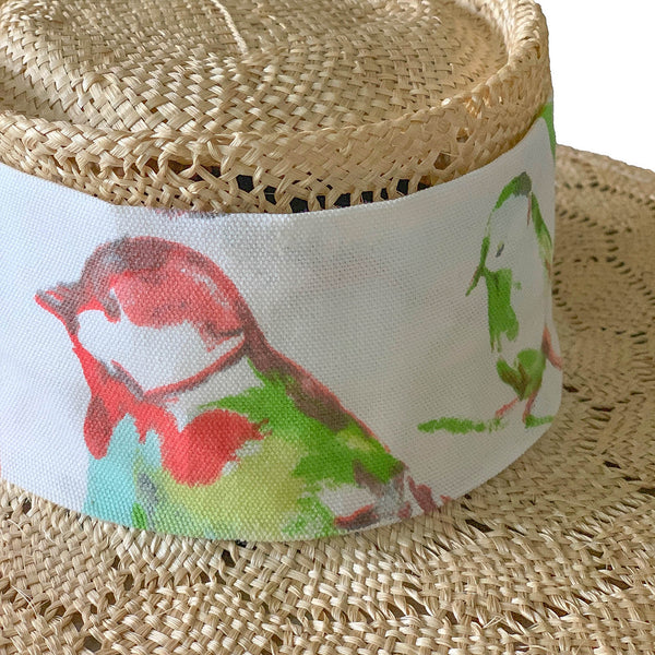 alisa birds straw hat | top hat | fedora hat by tanya litkovska