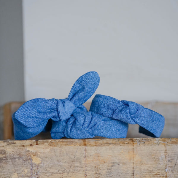 denim toddler headbands