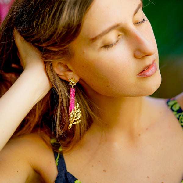 Designer Leaves Earrings | Beautiful Earrings | Artisan Earrings by Tanya Litkovska