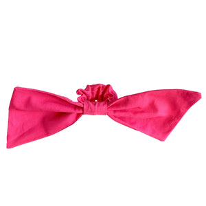 big bow scrunchie | fun pink scrunchie | designer bow scrunchies by tanya litkovska