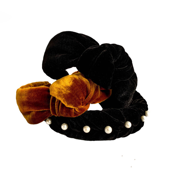 black velvet headband | bow knot headbands| thin headbands by tanya litkovska