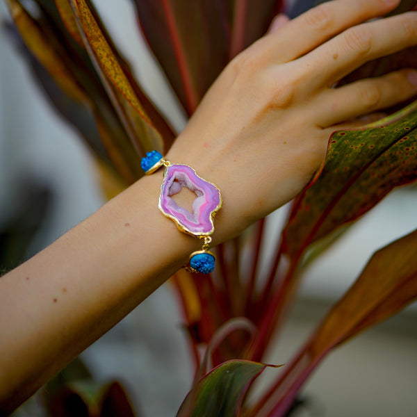 gemstone gold bracelets | druzy bracelets | beautiful bracelets by tanya litkovska