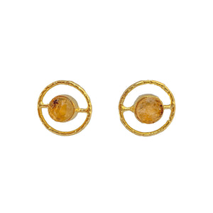 Gold Plated Stud Earrings | Handcrafted Artisan Earrings by Tanya Litkovska