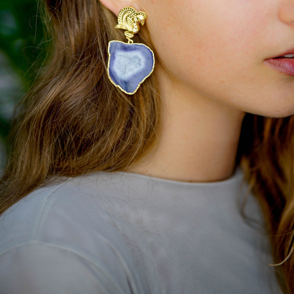 handcrafted earrings | gold plated earrings by tanya litkovska