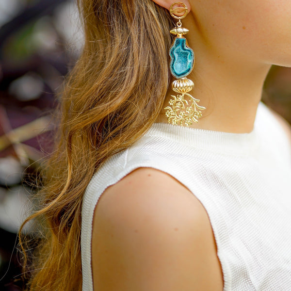 Handmade Gemstone Earrings | Luxury Gold Plated Earrings | Fashion Earrings by Tanya Litkovska