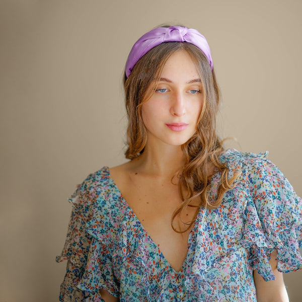 knotted silk headband | statement hair accessories for women  by tanya litkovska