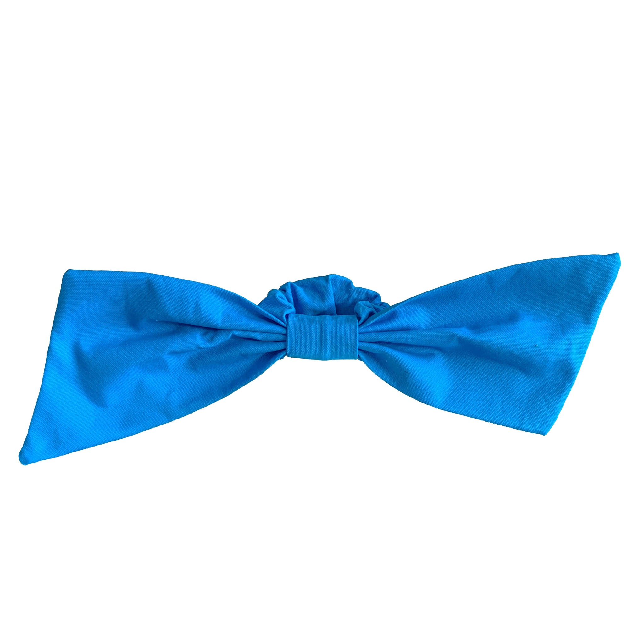 luxury blue scrunchies | bow hair ties | designer hair accessories by tanya litkovska