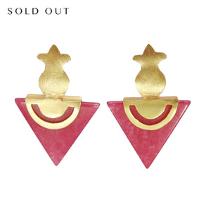 Unique earrings | Artisan Crafted Earrings | Luxury gold plated earrings