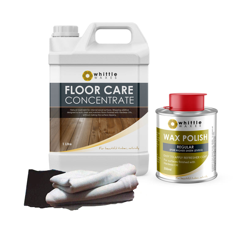 Whittle Waxes Cleaning & Maintenence Kit - Floor Care & Wax Polish (Regular)