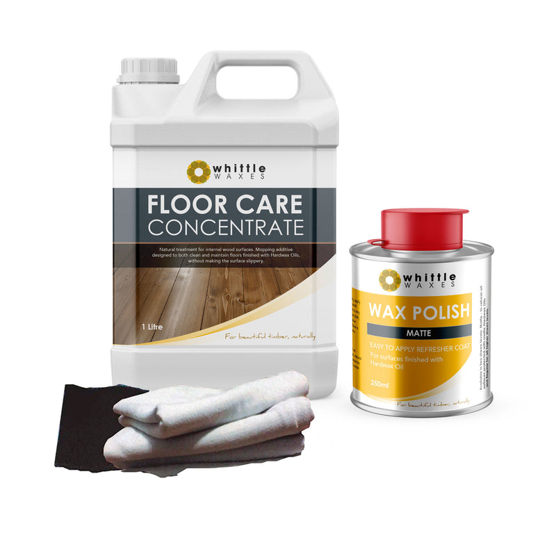 Whittle Waxes Cleaning & Maintenence Kit - Floor Care & Wax Polish (Matte)